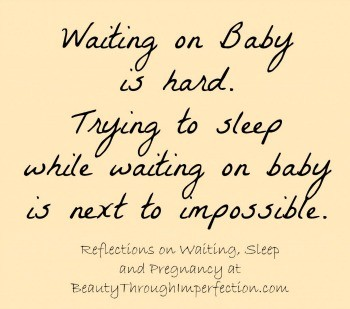 Trying to sleep – Waiting