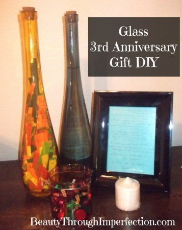 Glass 3 year anniversary gift