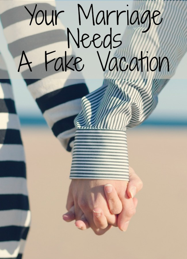 At home date night – fake vacation