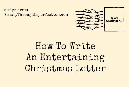 how to write an entertaining christmas letter that your