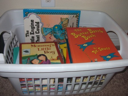 how to store toddler books