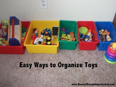 organize a toddlers room by color