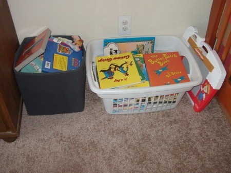 organizing a toddler room where to keep all the books