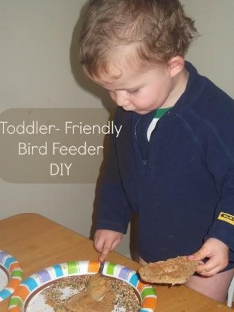 Toddler Friendly Bird Feeder DIY