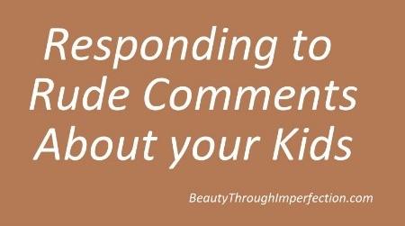 Responding to rude strangers