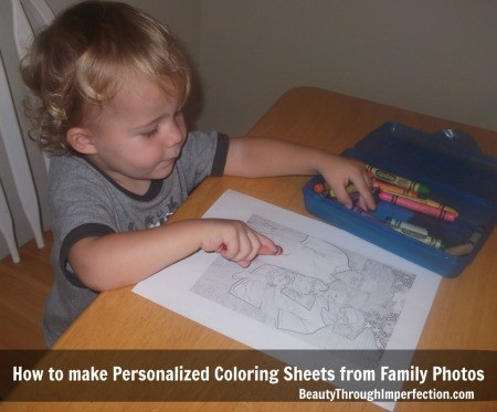 Free Personalized Coloring Sheets DIY