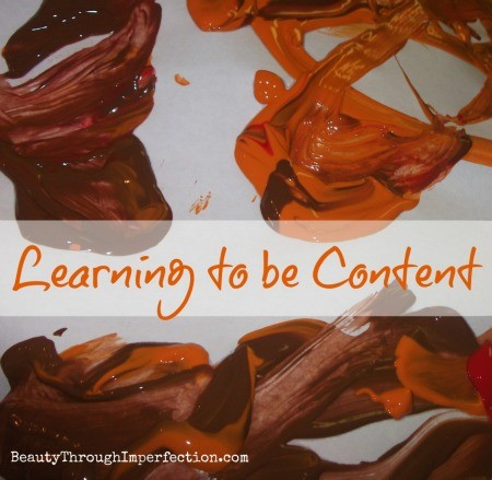 learning to be content