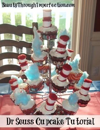 Dr Seuss Cupcakes Tutorial