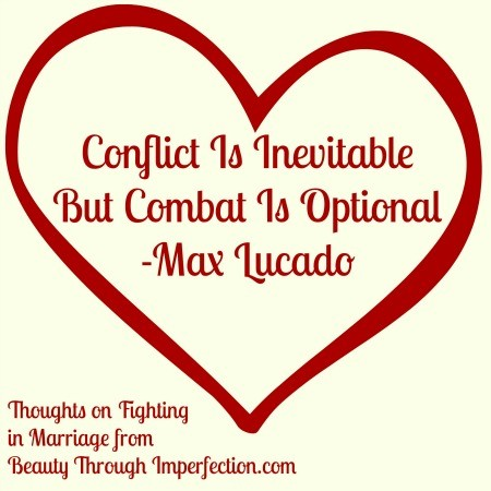 conflict is inevitable but combat is optional