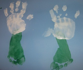 hand and foot print craft