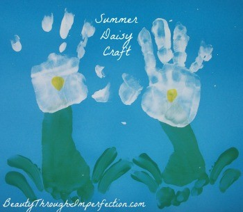 summer daisies flower craft