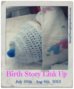 Birth Story Link up button