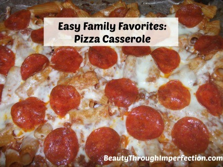 The best pizza casserole recipe