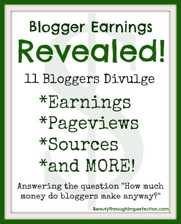 How Much Money Do Bloggers Make? This is great info! 11 different bloggers share how they make money, and how much they make a month!