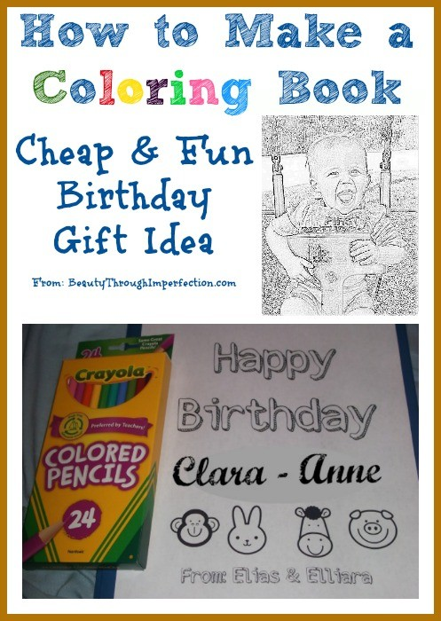 shows you how to make a personalized coloring book for kids