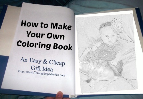- How To Make Your Own Coloring Book - Cheap Birthday Gift Idea For Kids -  Beauty Through Imperfection