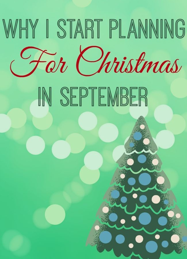 Planning for Christmas in September