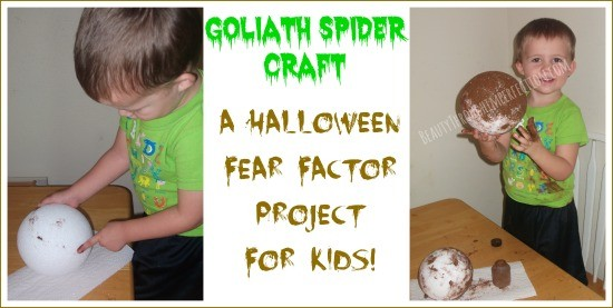 Super fun craft for halloween or for studying spiders!
