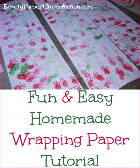 Fun & Easy Homemade Wrapping Paper