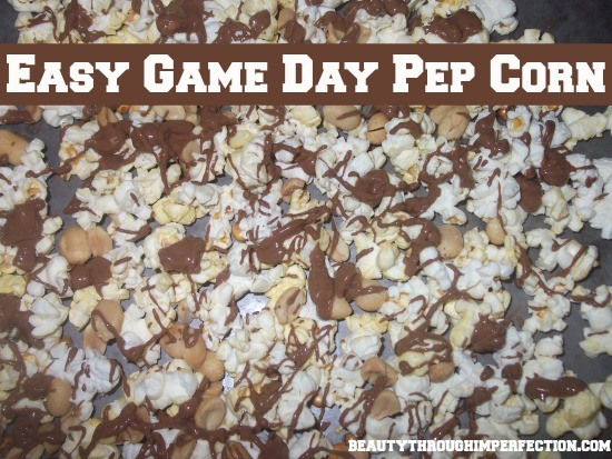 Yummy Recipe for REESE'S ® Game day pep corn!