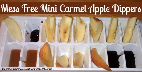 Mini Carmel Apple Dippers. So fun and easy!