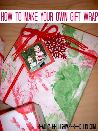 Make your own christmas wrapping paper beauty through imperfection