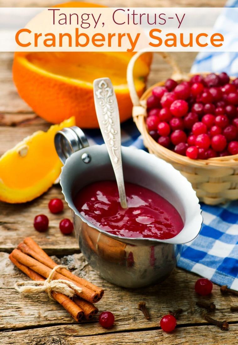 Citrus cranberry sauce recipe