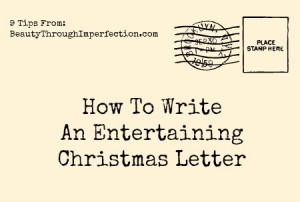 How to write a fun Christmas letter
