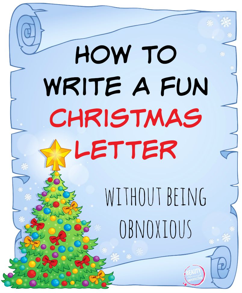 fun christmas letter