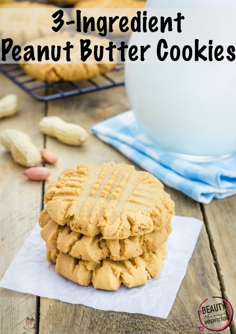 The easiest cookies ever! Just three ingredients!