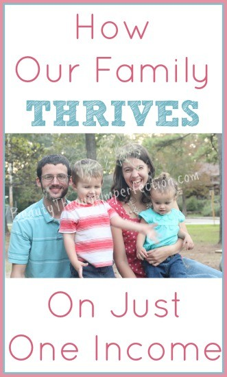 REALLY good ideas on how to survive on one income. All around good tips for every one though. Thriftyness, starts in the mind, before the pocketbook!