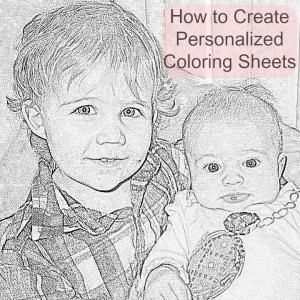 How to make FREE Personalized coloring sheets from digital photos!