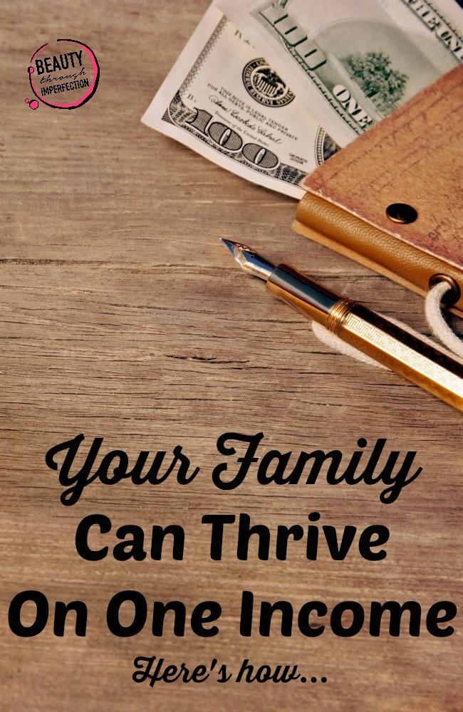 family thrive one income