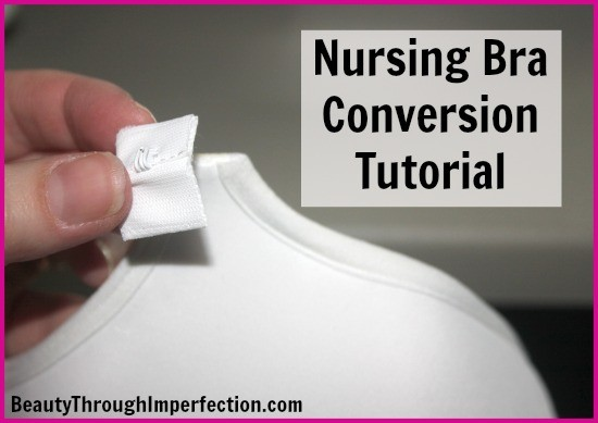 Because you should be able to feel cute and comfortable even when you are nursing. Transform your favorite bras into nursing ones - this is SO easy and quick!