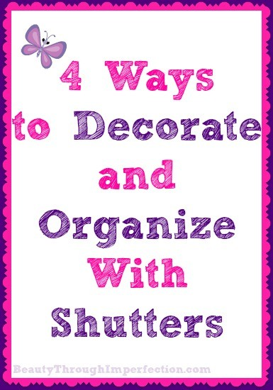 Crafty Organizing, With Shutters!