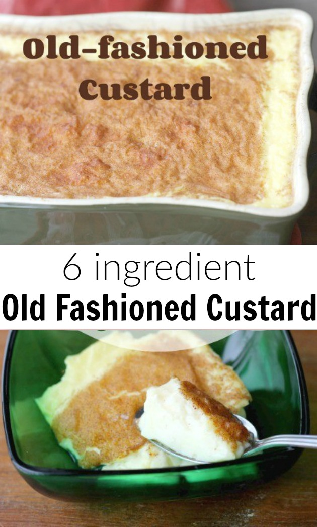 Quick and easy old fashioned custard recipe. Just six ingredients!