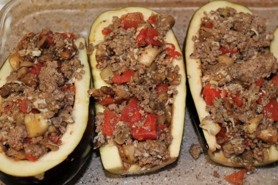 family approved Stuffed eggplant