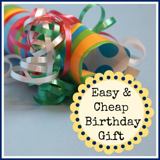 Birthday Poppers ~ Easy and Inexpensive Gift