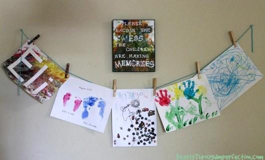 Art-display-wall-diy