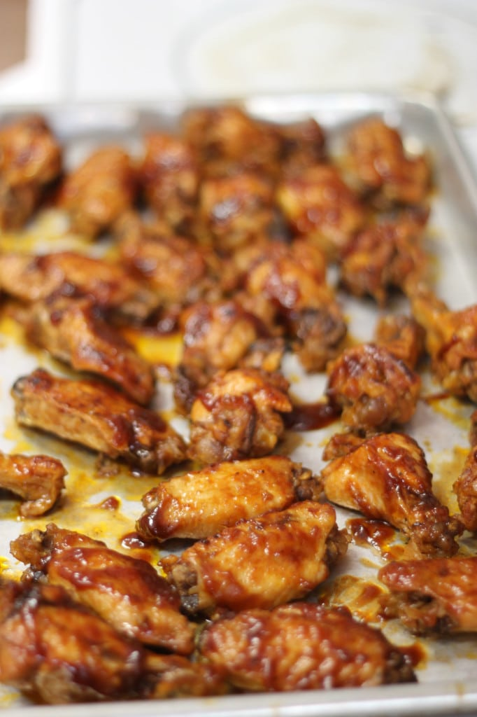 Game day snacks - easy BBQ wings