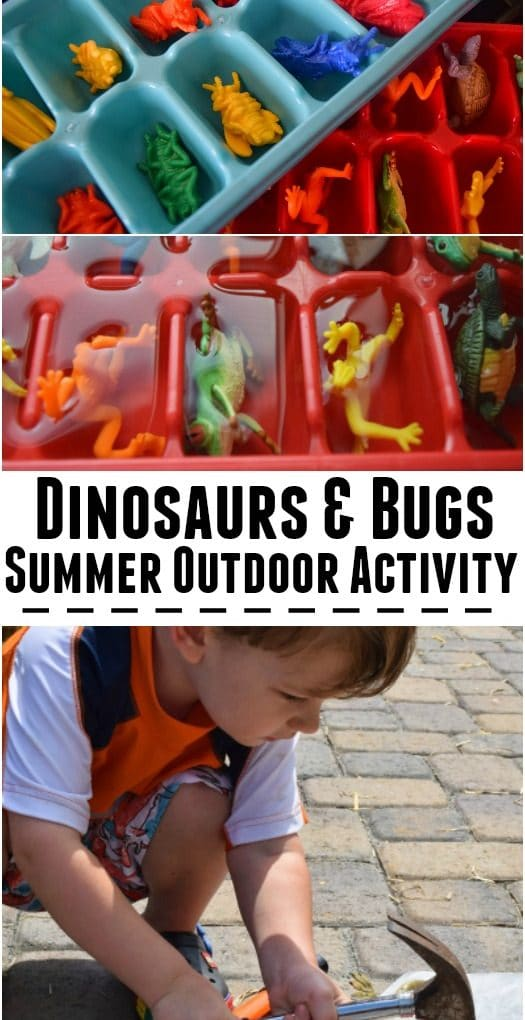 Hammers and ice blocks – summer activity for kids