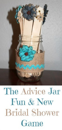 The Advice Jar New Bridal Shower Game Beauty Through Imperfection