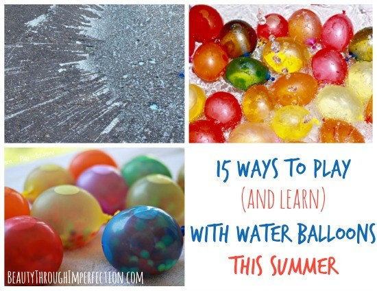 play and learn with water balloons