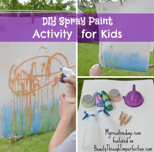 Spray Paint Activity For Kids