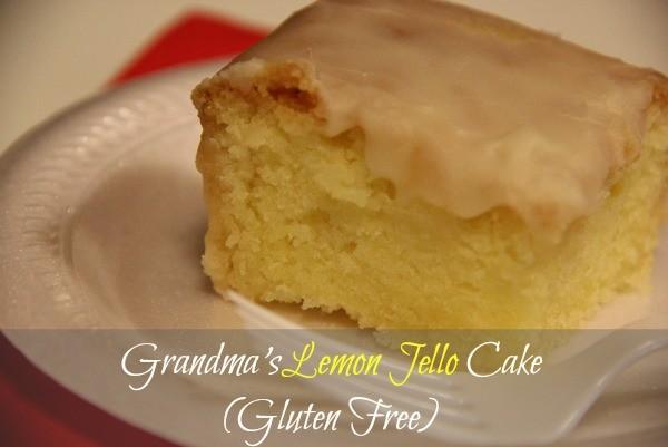 lemon jello cake slice