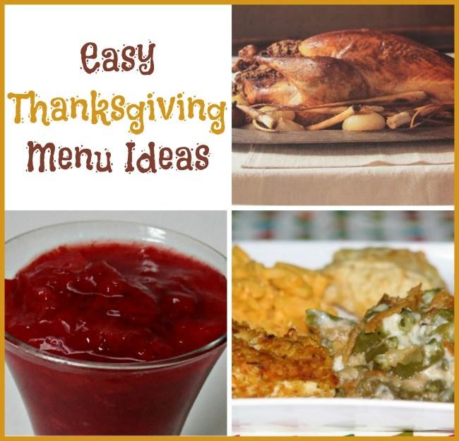 Easy Thanksgiving Menu ideas