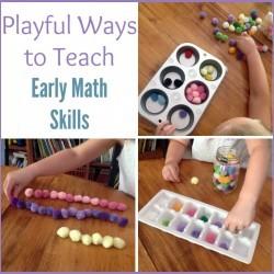 Teach early math skills