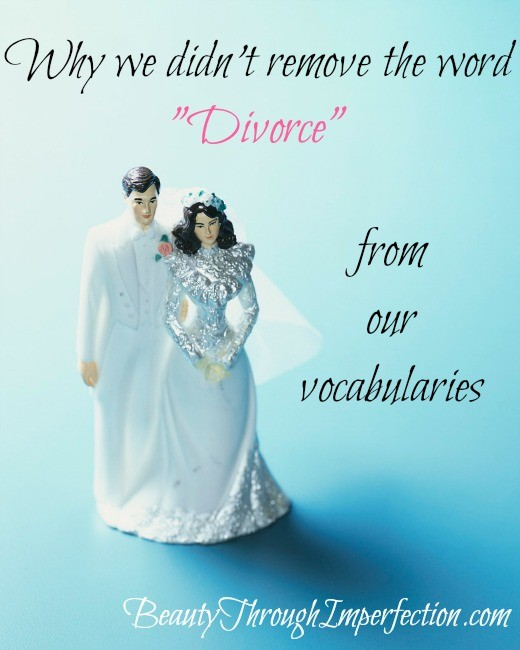 the word divorce