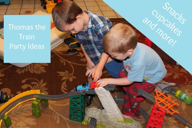 thomas the train themed snacks and activities
