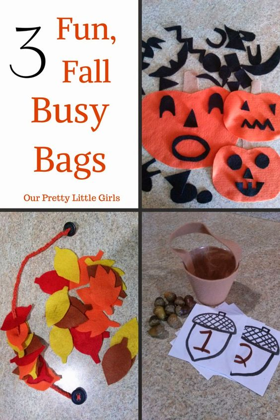 Fun fall busy bag ideas for preschoolers